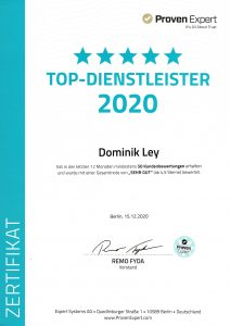 Auszeichnung als Top Dienstleister 2020